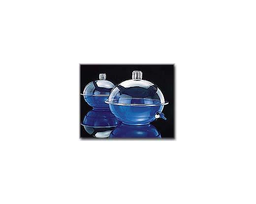 NALGENE® 5309, 5310 Desiccators, 250mm polycarbonate cover; blue polypropylene body and stopcock